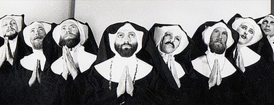 One of the earliest photographs of The Sisters Of Perpetual Indulgence