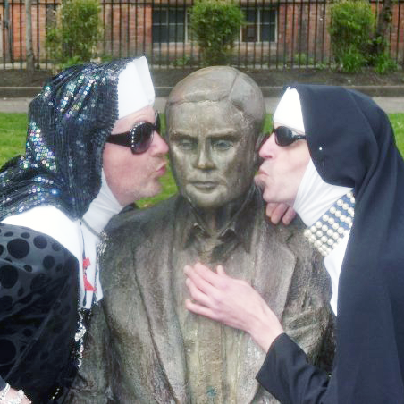 The Manchester Sisters kissing alan turing