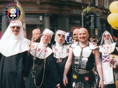 Archive photo of The Manchester Sisters at Manchester Pride mid 90s