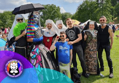 The Manchester Sisters and the Manchester Leathermen at Salford Pride 2019